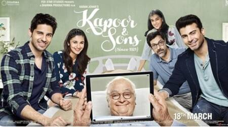 Kapoor & Sons new poster: Alia, Sidharth, Fawad, Rishi in one frame again