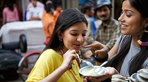 Girls having Faluda Kulfi