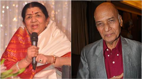Lata Mangeshkar wishes Khayyam on birthday