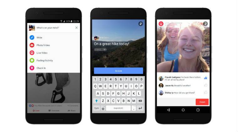 Facebook is officially rolling out its live broadcast feature on Android (Source: Facebook)