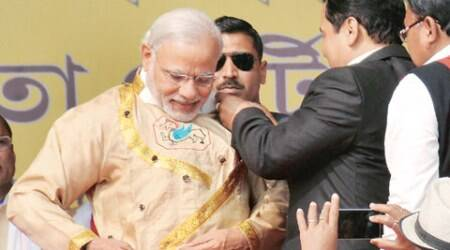 Modi in upper Assam: PM launches poll campaign, says give BJP a chance