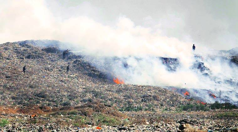 Fire broke out at new spots on Wednesday. Vasant Prabhu