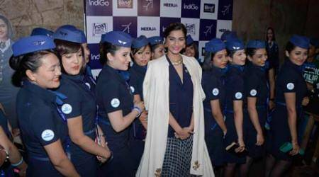 'Neerja' Sonam Kapoor pays tribute to air hostess', later screens film for them