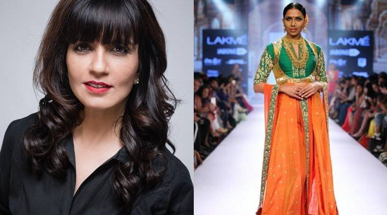 From L to R: Designer Neeta Lulla and one of her designs.