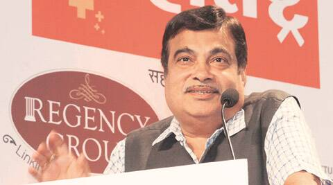 Union Minister for Surface Transport and Shipping Nitin Gadkari addresses the valedictory session of Badalta Maharashtra conclave in Mumbai on Friday. Vasant Prabhu