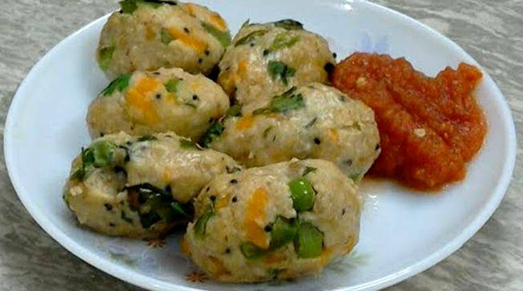 Kick start your day with some oats veggie steamed balls the indian oats kozhukattai express recipes rice balls steamed rice balls south indian forumfinder Images