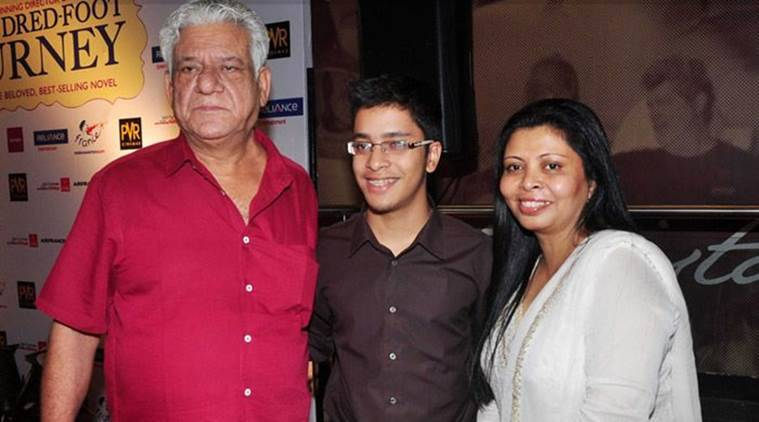 Image result for om puri son
