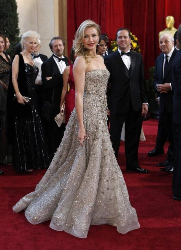 Actress Cameron Diaz arrives on the red carpet at the 82nd Academy Awards in Hollywood