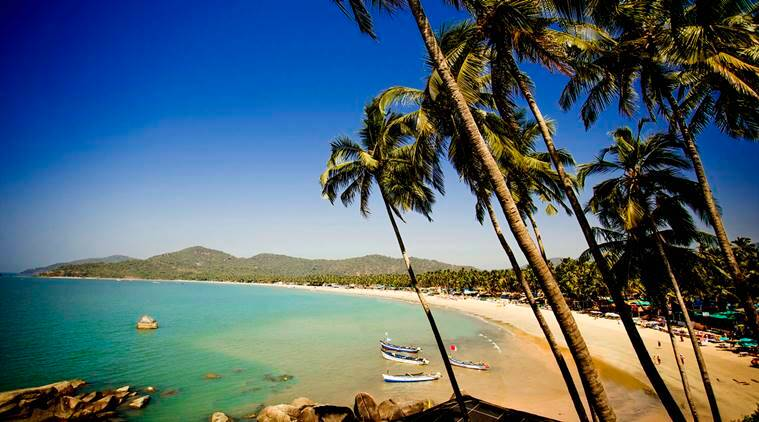 Paradise beach in India, Goa, Palolem.