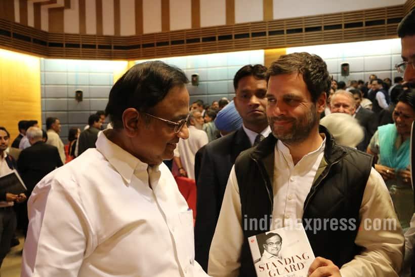 chidambaram, p chidambaram, chidambaram book launch, Standing Guard chidambaram, Standing Guard book launch, chidambaram indian express column, indian express chidambaram columns, across the aisle chidambaram, hidambaram, JNU row, Chidambaram JNU, JNU chidambaram, Chidambaram book, congress