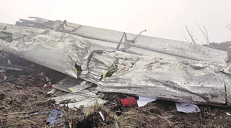 Wreckage of Twin Otter plane in Myagdi, Nepal, Wednesday. (Source: Reuters)