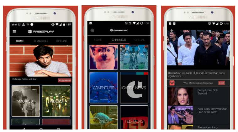 PressPlay TV: Now watch movies on your phone in certain