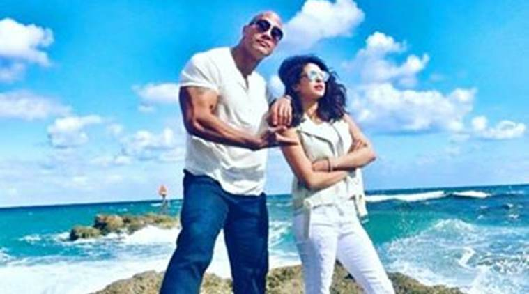 priyanka chopra, baywatch, dwayne johnson, the rock, dwayne the rock johnson, priyanka dwayne johnson, priyanka chopra the rock, priyanka chopra baywatch, dwayne johnson baywatch, entertainnment news