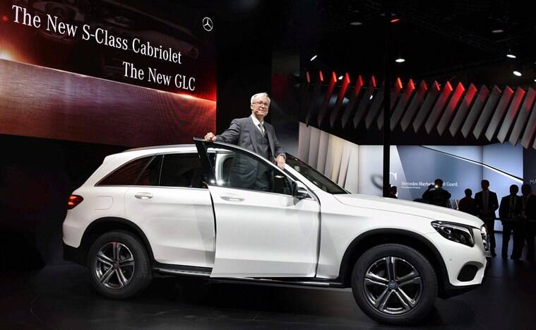 Greater Noida: MD, Mercedes Roland Folger unveils GLC 300 4 MATIC at Auto Expo 2016 in Greater Noida on Wednesday. PTI Photo by Atul Yadav(PTI2_3_2016_000131A)