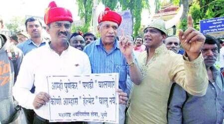 Pune helmet drive: Parties up in arms, traffic police on toes