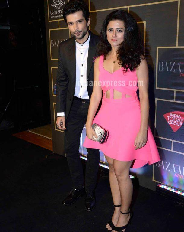 Raqesh Bapat, Ridhi Dogra. Ridhi was pretty in a short pink number.