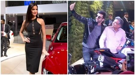 Katrina Kaif, Ranbir Kapoor avoid bumping into each other at auto expo in Delhi