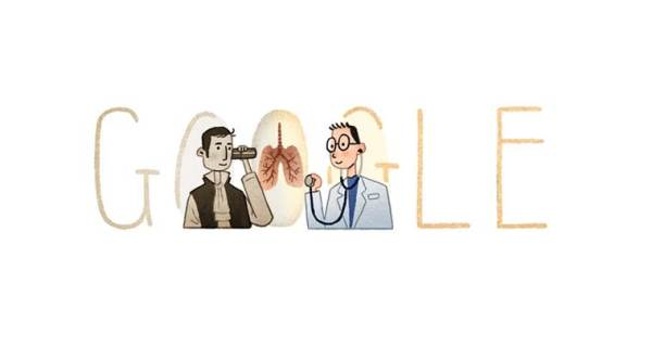 Google doodle celebrates 235th birthday of stethoscope inventor René Laennec
