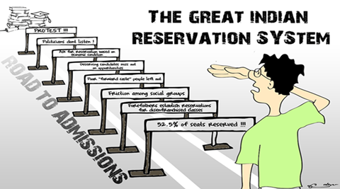 against reservation system in india