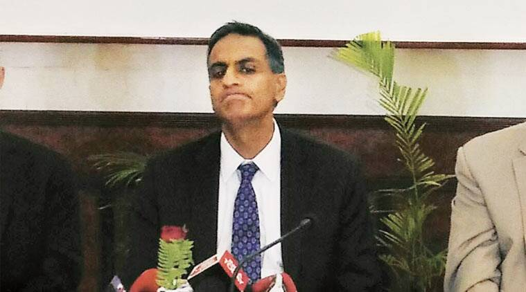 Richard Verma in Patna on Tuesday. (Express Photo)