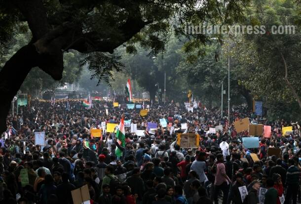 jnu, jnu protest, jnu protest photos, jnu news, jnu photos, jnu latest news, jnu president, jnusu president, jnusu, kanhaiya kumar, kanhaiya kumar release, kanhaiya kumar arrest,kanhaiya kumar hearing, delhi protests, delhi protest photos, jantar mantar, india news