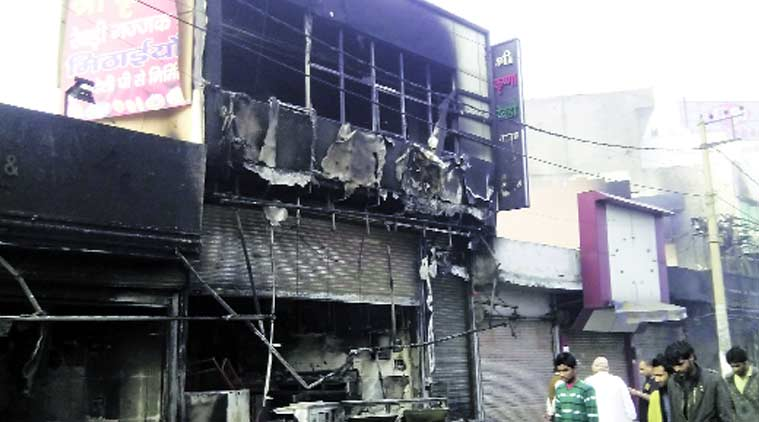 The gutted Gulab Rewri group restaurant near Sheila bypass in Rohtak. Express