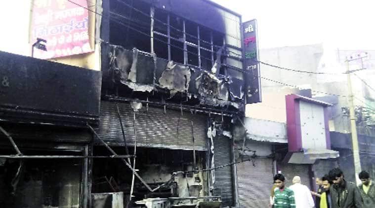 The gutted Gulab Rewri group restaurant near Sheila bypass in Rohtak. Express