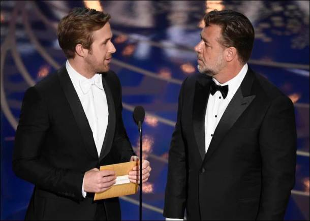 oscars, oscar awards 2016, priyanka chopra, oscar awards presenters, ryan gosling, russell crowe