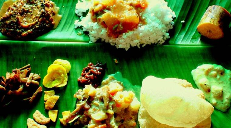 Sadya feast at Kerala Bhavan. (Photo: Flickr/Joseph TI)
