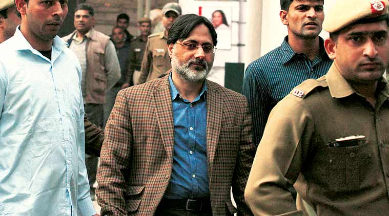 SAR Geelani at the Patiala House Courts Complex. (Express Photo Prem Nath Pandey)