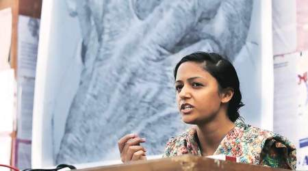 BJP's youth wing files complaint against Shehla Rashid for tweet about Nitin Gadkari