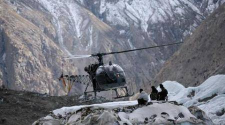 Mortal remains of nine soldiers flown to Siachen base camp
