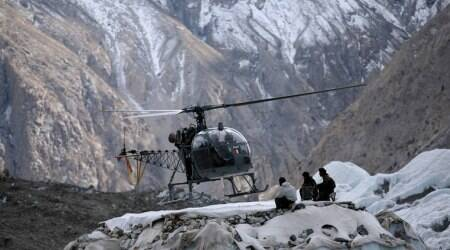 India army helicopter emergency landing, army cheetah helicopter emergency landing, army helicopter jammu emergency landing, indian express