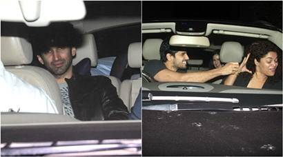 Sidharth drives Aditya, Katrina to Fitoor's screening