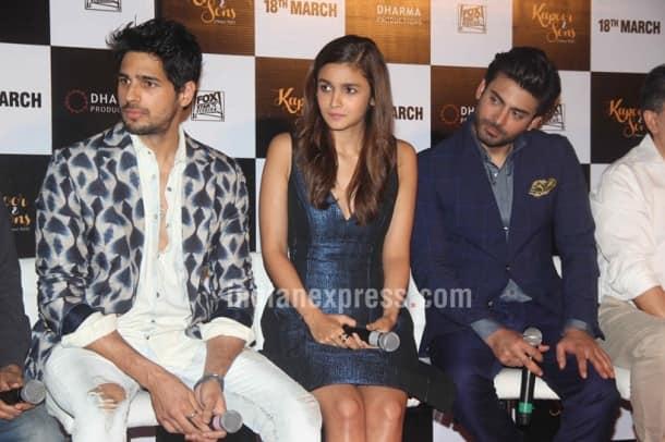 Sidharth Malhotra, Alia Bhatt, Fawad Khan