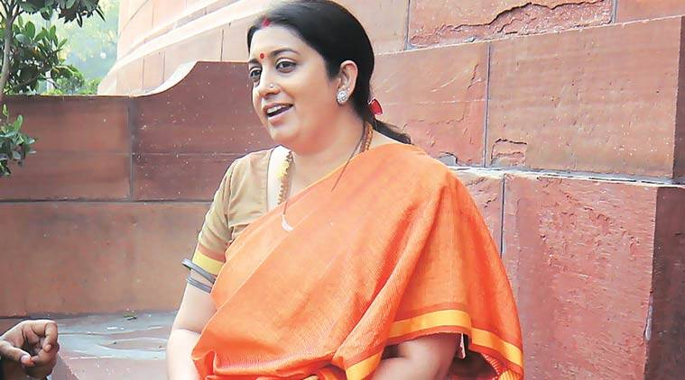 HRD Minister Smriti Irani. (Express Photo by Anil Sharma)