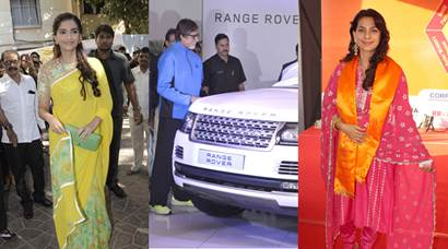 Sonam Kapoor promotes 'Neerja', Amitabh at delivery ceremony of Range Rover