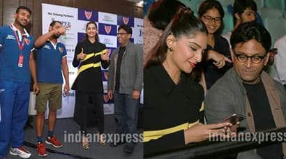 Sonam Kapoor, Pro Kabaddi, Pro Kabaddi Match, Ram Madhvani, Neerja director, Sonam Kapoor ram Madhvani, Sonam Kapoor Pro Kabaddi, Sonam Kapoor in New Delhi, Sonam Kapoor Pics, Sonam Kapoor Photos