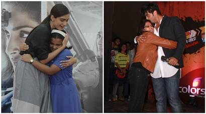Cousins Sonam Kapoor, Arjun Kapoor meet and hug their fans