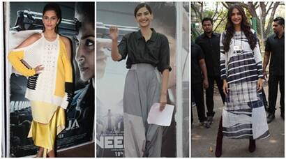 Fashionista Sonam Kapoor at Neerja's promotions