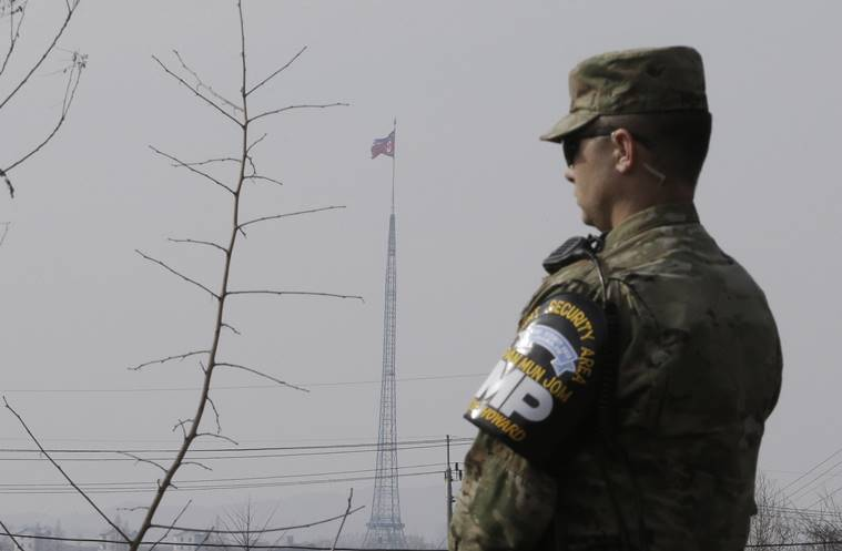 North Korea defecting soldier, North Korea defecting soldier shot ruthlessly, UN on North Korea defecting soldiers, South Korea United Nations Command, Korea demilitarised zone, US soldiers in Korea demilitarised zone, North Korea brutally shoots soldiers, world news, indian express news