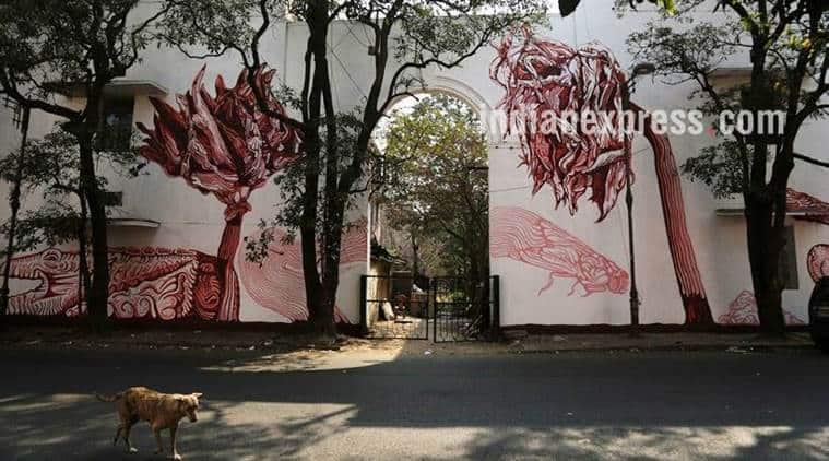 lodhi colony, delhi lodhi colony, street art festival, indian express talk