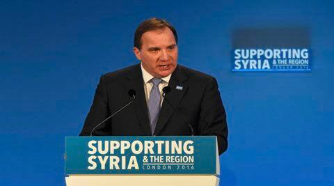 Sweden's Prime Minister Stefan Lofven speaks at the donors Conference for Syria in London, Britain February 4, 2016. REUTERS/Toby Melville