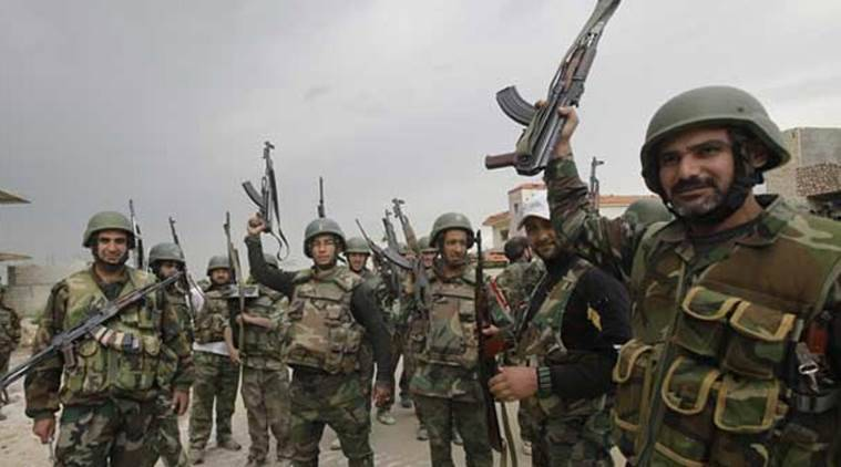 syrian army, syria, islamic state, is, is militants, islamic state militants, russian army, russian air strikes, syrian observatory for human rights, raqqa province, world news,