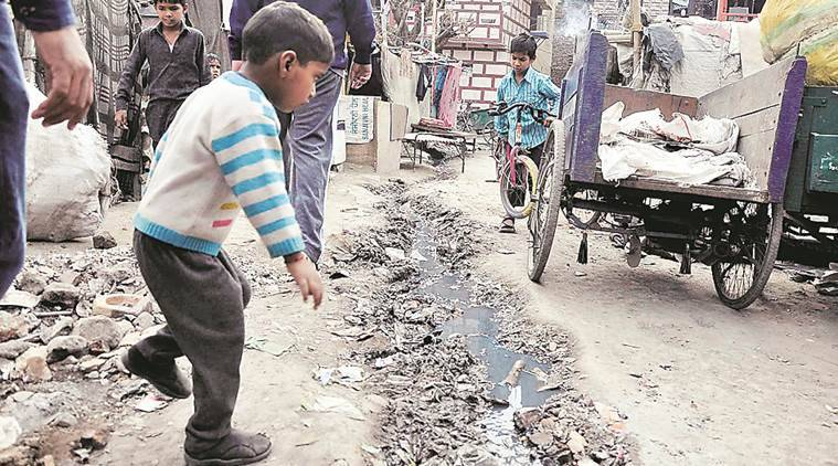Condition of Janta and kumar colony in sector 25 Chandigarh. Express file photo