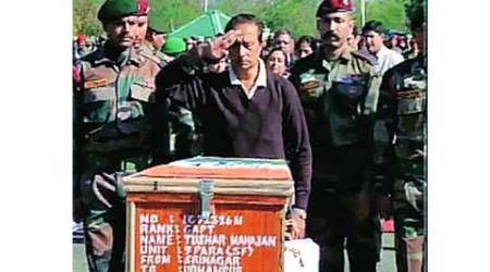 Udhampur, Captain Tushar Mahajan, 9 Para Commandos, Pampore encounter, Dev Raj Gupta, political leaders, National Defence Academy, NDA, india news