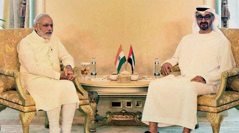 india, UAE, price visit, sign pact, india UAE pact, abu dhabi, Sheikh Mohamed bin Zayad Al Nahyan