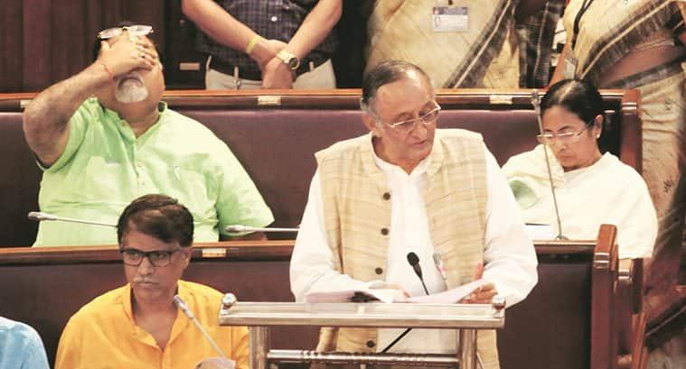 Bengal Assembly, West Bengal Finance minister Amit Mitra, Amit Mitra, Finance minister Amit Mitra, West Bengal Taxation Laws (Amendment) Bill, 2017, West Bengal Taxation Laws, India News, Indian Express, Indian Express News