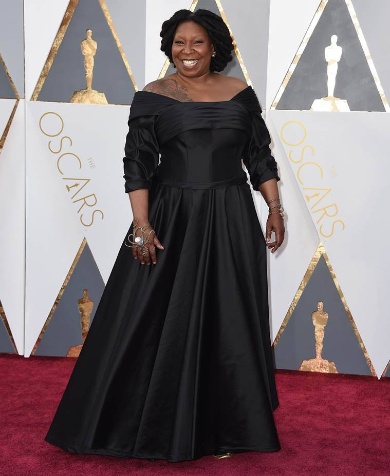 Whoopi Goldberg arrives at the Oscars on Sunday, Feb. 28, 2016, at the Dolby Theatre in Los Angeles. (Photo by Jordan Strauss/Invision/AP)