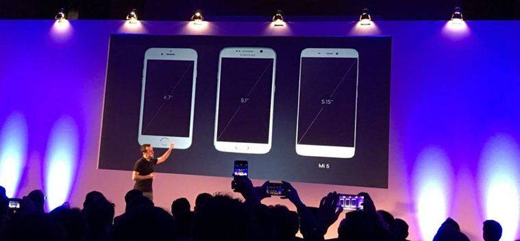 Xiaomi Mi 5 in comparison with Apple iPhone 6s and Samsung Galaxy S6 in terms of design